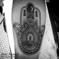 Thigh tat | Body Art | Pinterest | Thigh tat, Posts and Larger  Hamsa Hand Tattoo Thigh