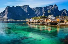 Walking in Norway deep within the Arctic Circle in the Land of the Midnight Sun Explore the Lofoten Islands of Moskenesoya, Vestvagoya, A. Adventure Holiday, Adventure Travel, Bergen, Holidays In Norway, Lofoten Islands Norway, Surf, Walking Holiday, Fjord, Destination Voyage