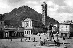 vecchia Lecco - piazza Manzoni e chiesa della Vittoria