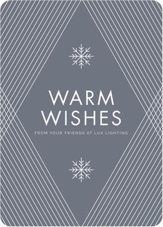 Diagonal Pattern Corporate Holiday Cards