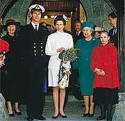 Princess Anne Leaving The Church Second Marriage In 1992 Https Www