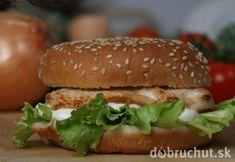 Kurací hamburger v celozrnnej žemli Asian Chicken, Mexican Chicken, Burger Recipes, Meat Recipes, Salmon Burgers, Lose Weight, Weight Loss, Grilling, Menu