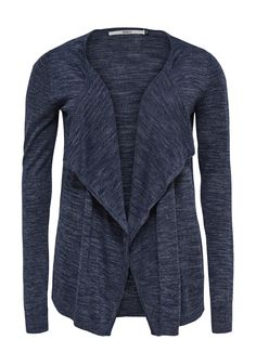 DRAPY STRIKKET CARDIGAN, Dark Navy