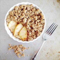 Healthy Apple Crisp! Fill the need for some delicious fall treats.