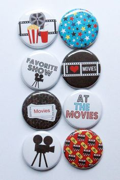 At the Movies Flair by aflairforbuttons on Etsy, $6.00