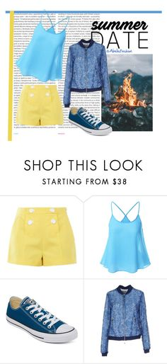 """Summer date"" by abelis ❤ liked on Polyvore featuring Oris, Boutique Moschino, Converse and Pinko"