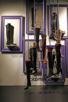 Bloomingdale's Window Display in New York. #retail #merchandising #frame #display