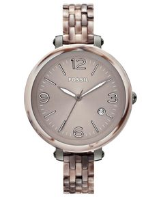 Fossil Watch, Women's Heather Gray Tone Stainless Steel and Alpine Acetate Bracelet 42mm JR1405 - Women's Watches - Jewelry & Watches - Macy's