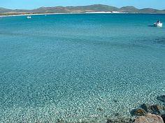 Acque cristalline a Porto Pino, Sardegna