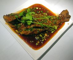 Fried Snapper in a Ginger Garlic Glazed Sauce by bonnibella, via Flickr