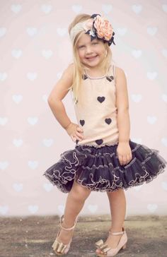 Ooh Lala Glam Lots of Hearts Dress  2 to 14 Years Now In Stock