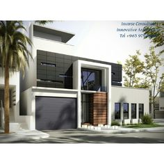 Modern residence concept designed by inverse architecture for Architecture firms in qatar