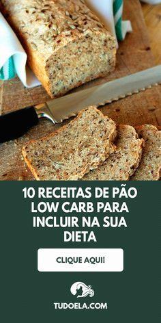 Baixe 10 receitas low carb saborosas clique no pin Healthy Diet Recipes, Healthy Fruits, Low Carb Recipes, Low Fat Diets, No Carb Diets, Low Carb Bread, Low Carb Keto, Tortas Low Carb, Baking Flour