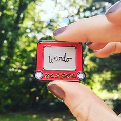 PRE ORDER WEIRDO Etch A Sketch Pin by millypins on Etsy