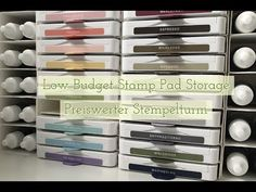 Stamp Pad Storage - Stempelturm DIY Stampin' Up! Craft Storage Containers, Craft Storage Solutions, Ink Pad Storage, Diy Storage, Storage Ideas, Ikea Organization, Organization Ideas, Craft Storage Furniture, Stampin Up