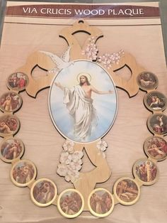 Risen jesus christ 12 t easter figure christian statue he has risen risen jesus stations of the cross wooden wall plaque easter gift cromo italy negle Gallery