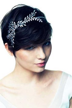 Cute Headband Pixie for Wedding