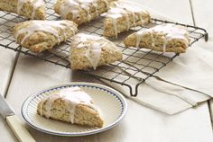 The key to a light and airy scone? Don't overwork the dough. Recipe: Lemon-Poppy Seed Scones   - CountryLiving.com