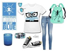 """""""Light it up blue"""" by coolmommy44 ❤ liked on Polyvore featuring David Yurman, STELLA McCARTNEY, Converse, Betsey Johnson, Autism, autismawareness, LIGHTITUPBLUE and autismspeaks"""