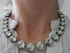 Anna wintour style chrysolite swarovski necklace