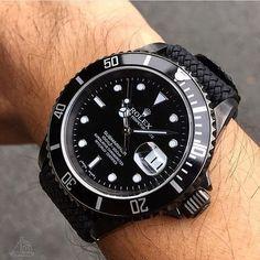 New Sprezzatura   themanliness:   All black Rolex Submariner ⚫️...