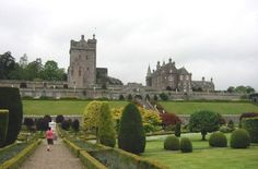 Drummond Castle in Scotland