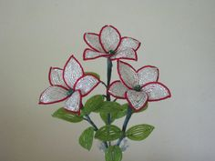 French Beaded Flowers Crystal Flowers