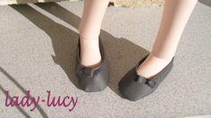 faux leather ballerinas --Enfin the tuto--