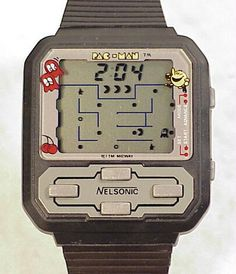 PacMan watch from the 80s....i sooo remember having one and never forget we went on a family vacation and my dog chewed mine up :(