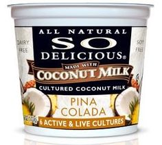 coconut milk yogurt - they've started selling the vanilla variety in bulk containers, and we're in love! MF, SF, GF, and NF