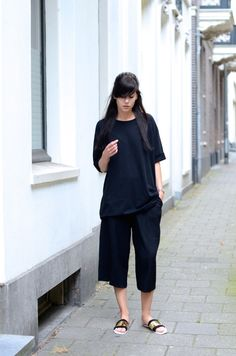 all black and all oversized. cool. NL. #lovelybylucy
