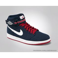 outlet store ed2d7 355a8 Air Jordan 1 Hi Strap Premier - Midnight Navy   Varsity Red - Sail