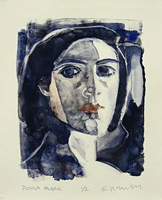 Dora Maar monotype by Gary Kelley