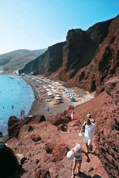 Red beach in Santorini island, Greece