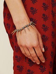 Spike Beaded Bracelet