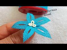 Deniz yıldızı ÇİÇEK MOTİFİNİN yapım aşamaları - YouTube Free Knitting, Knitting Patterns, Flower Motif, Tatting Jewelry, Needle Lace, Lace Making, Amazing Flowers, Flower Crafts, Crochet Flowers