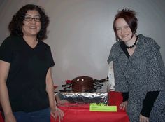 Betty & Starr with Spider Cake | by Dr. Starr, geeky artist librarian