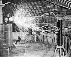 Photo of Nikola Tesla in his Lab for fans of Nikola Tesla. Tesla sitting in his lab in Colorado Springs, c. 1900.