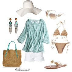 Beach, Tan and Blue and Tory Burch Sandals