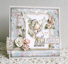 Camillas Magnolia Kort.  Tilda catching stars from Magnolia stamps