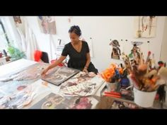 ▶ Wangechi's Work - YouTube - Nairobi-Born collagist Wangechi Mutu. To learn more about her work, and to discuss the way that art helps to build communities, Artspace chairman Christopher Vroom visited the artist's Brooklyn studio