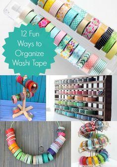 brilliant ways to organize your washi tape.' (via Washi Tape Crafts) Diy Organisation, Do It Yourself Organization, Scrapbook Organization, Organizing Ideas, Washi Tape Storage, Washi Tape Crafts, Tapas, Kit Diy, Craft Room Storage