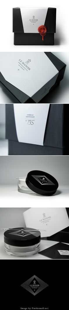 Le Manoir. Very pretty simplistic packaging design curated by Packaging Diva PD.