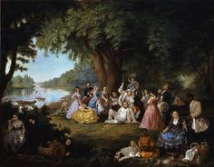 The Artist and Her Family at a Fourth of July Picnic Lilly Martin Spencer circa 1864 | In the Swan's Shadow