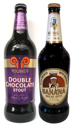 "Best ""Black & Tan"" I ever had: Young's Double Chocolate Stout + Well's Banana Bread Beer"