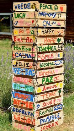 peace pole - should be in a garden ~ meditation, flower or veggie
