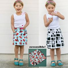 The Potato Chip Skirt … because you won't be able to stop at just one! Features include a flat front, elastic back, and inset pockets. It's qui...