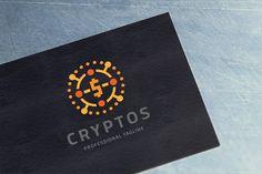 Crypto Digital Coin Logo by tkent on @creativemarket