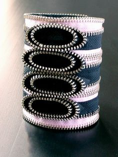 Zipper Jewelry .... NICE cuff bracelet