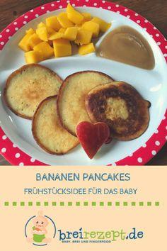 Bananen-Pancakes ohne Zucker für das Baby